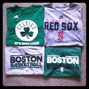 Bundle of 4 Boston team tees